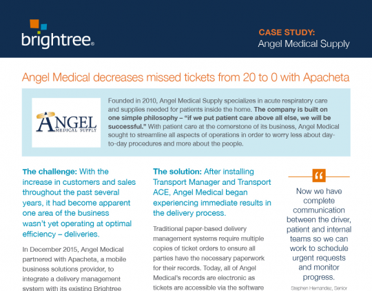 Angel Medical Supply Case Study