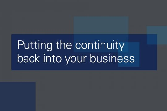 Business continuity best practices from providers