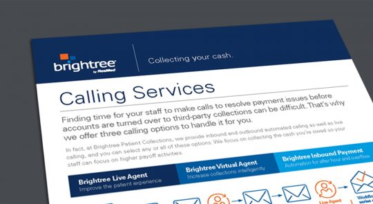 Brightree live agent virtual agent inbound payment