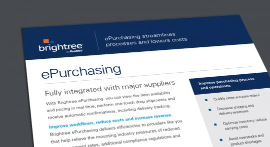 ePurchasing helps providers achieve high-impact ROI